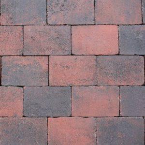 Abbeystones rood zwart 20x30x6